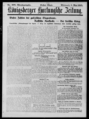 Königsberger Hartungsche Zeitung on May 5, 1915