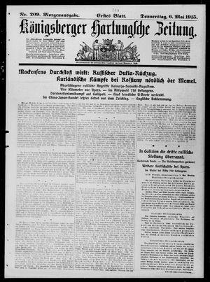 Königsberger Hartungsche Zeitung vom 06.05.1915