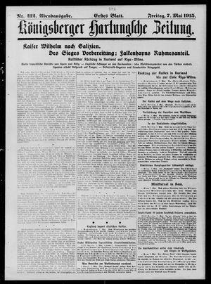 Königsberger Hartungsche Zeitung vom 07.05.1915