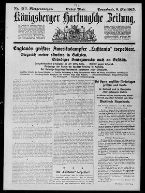 Königsberger Hartungsche Zeitung vom 08.05.1915
