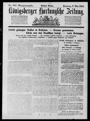 Königsberger Hartungsche Zeitung vom 09.05.1915