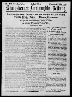 Königsberger Hartungsche Zeitung on May 10, 1915