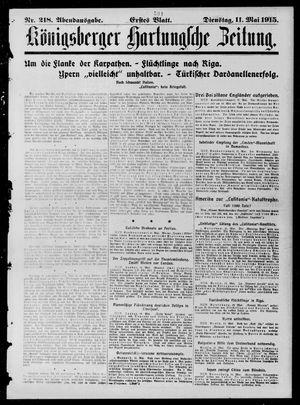 Königsberger Hartungsche Zeitung vom 11.05.1915
