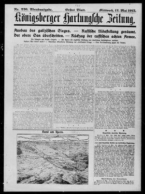 Königsberger Hartungsche Zeitung vom 12.05.1915