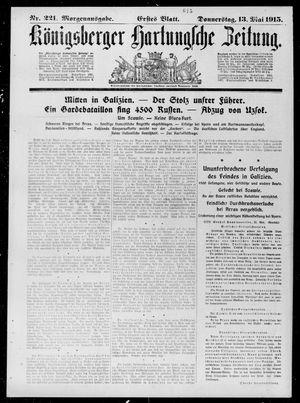 Königsberger Hartungsche Zeitung vom 13.05.1915