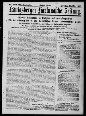 Königsberger Hartungsche Zeitung vom 14.05.1915