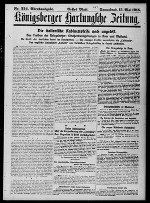 Königsberger Hartungsche Zeitung vom 15.05.1915