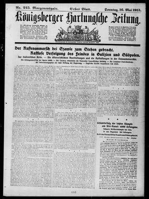 Königsberger Hartungsche Zeitung vom 16.05.1915