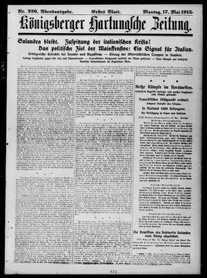 Königsberger Hartungsche Zeitung vom 17.05.1915