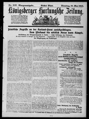 Königsberger Hartungsche Zeitung vom 18.05.1915