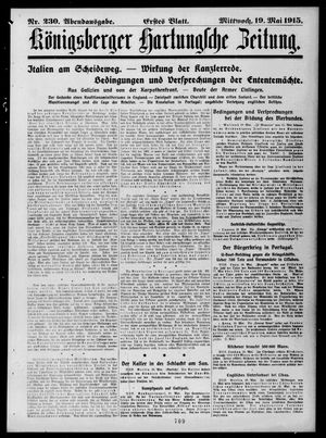 Königsberger Hartungsche Zeitung vom 19.05.1915