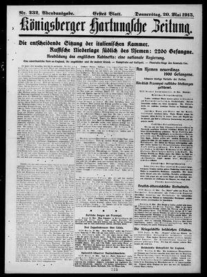 Königsberger Hartungsche Zeitung vom 20.05.1915