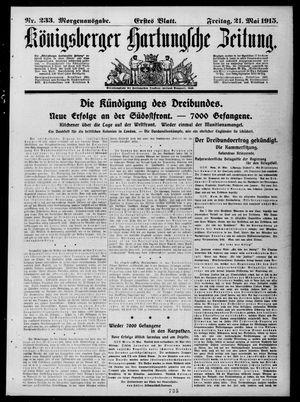 Königsberger Hartungsche Zeitung vom 21.05.1915