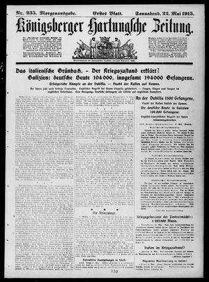 Königsberger Hartungsche Zeitung vom 22.05.1915
