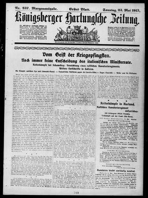 Königsberger Hartungsche Zeitung vom 23.05.1915