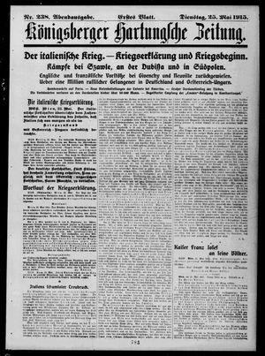 Königsberger Hartungsche Zeitung vom 25.05.1915