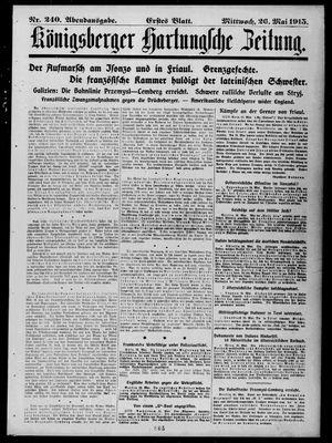Königsberger Hartungsche Zeitung vom 26.05.1915