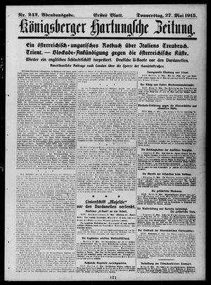 Königsberger Hartungsche Zeitung vom 27.05.1915
