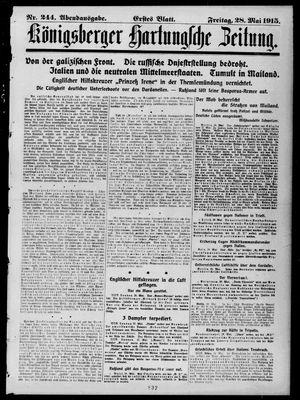 Königsberger Hartungsche Zeitung vom 28.05.1915