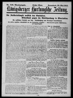 Königsberger Hartungsche Zeitung vom 29.05.1915