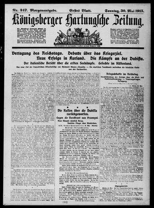 Königsberger Hartungsche Zeitung vom 30.05.1915