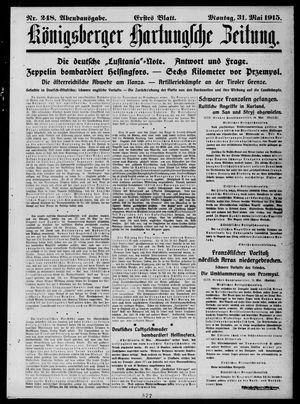 Königsberger Hartungsche Zeitung vom 31.05.1915