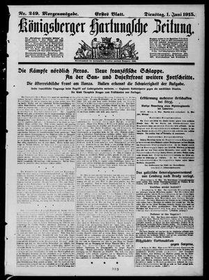 Königsberger Hartungsche Zeitung vom 01.06.1915