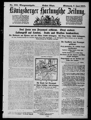 Königsberger Hartungsche Zeitung vom 02.06.1915