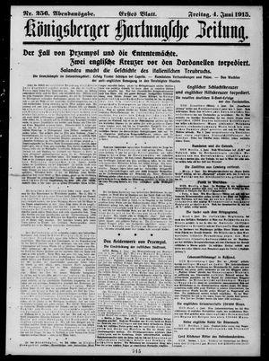 Königsberger Hartungsche Zeitung vom 04.06.1915