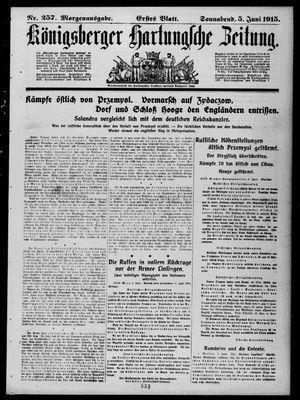 Königsberger Hartungsche Zeitung vom 05.06.1915