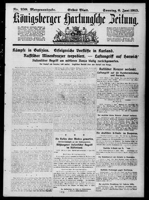 Königsberger Hartungsche Zeitung vom 06.06.1915
