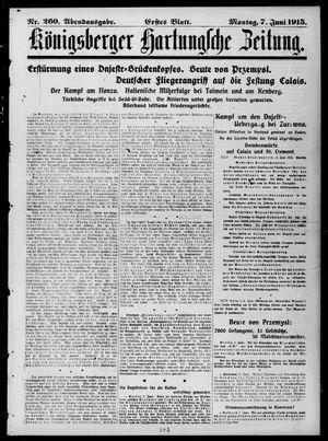 Königsberger Hartungsche Zeitung vom 07.06.1915