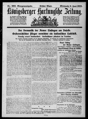 Königsberger Hartungsche Zeitung vom 09.06.1915