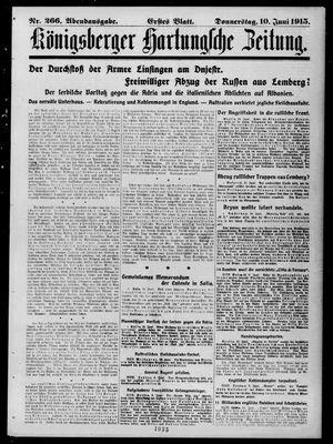 Königsberger Hartungsche Zeitung vom 10.06.1915
