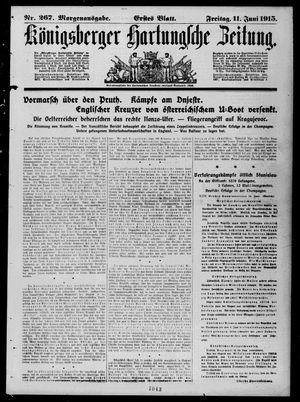 Königsberger Hartungsche Zeitung vom 11.06.1915