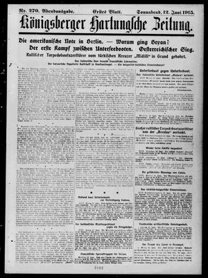 Königsberger Hartungsche Zeitung vom 12.06.1915