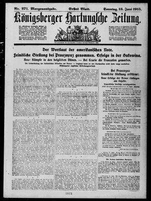Königsberger Hartungsche Zeitung vom 13.06.1915