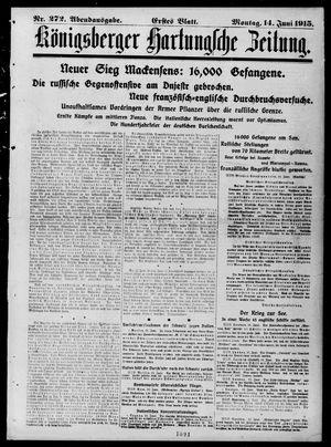 Königsberger Hartungsche Zeitung vom 14.06.1915