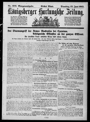 Königsberger Hartungsche Zeitung vom 15.06.1915