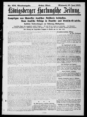 Königsberger Hartungsche Zeitung vom 16.06.1915