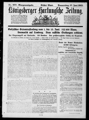 Königsberger Hartungsche Zeitung vom 17.06.1915