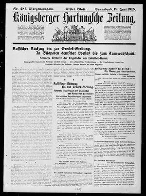 Königsberger Hartungsche Zeitung vom 19.06.1915