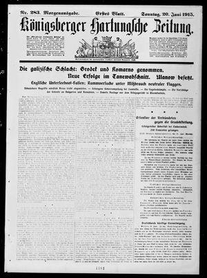 Königsberger Hartungsche Zeitung vom 20.06.1915
