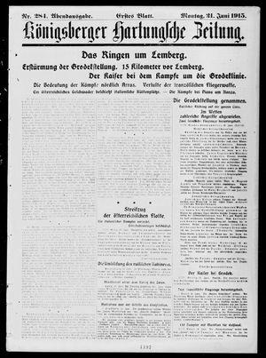 Königsberger Hartungsche Zeitung vom 21.06.1915