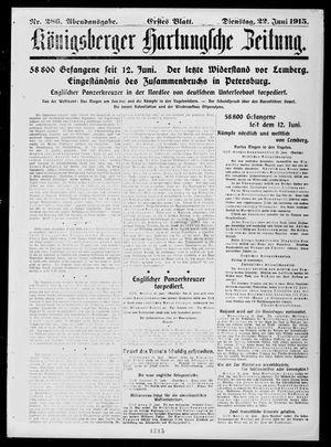 Königsberger Hartungsche Zeitung vom 22.06.1915