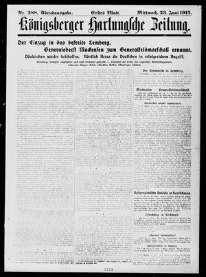 Königsberger Hartungsche Zeitung vom 23.06.1915