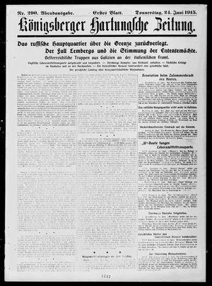 Königsberger Hartungsche Zeitung vom 24.06.1915