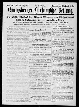 Königsberger Hartungsche Zeitung vom 26.06.1915