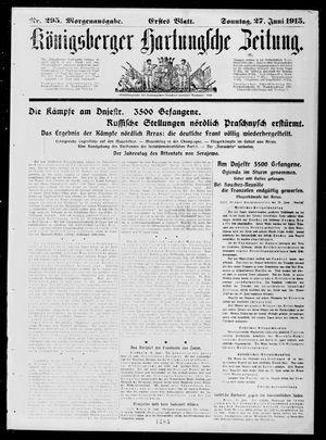 Königsberger Hartungsche Zeitung vom 27.06.1915