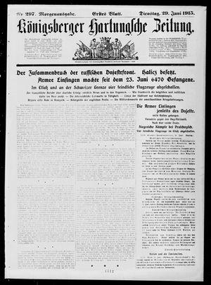 Königsberger Hartungsche Zeitung vom 29.06.1915